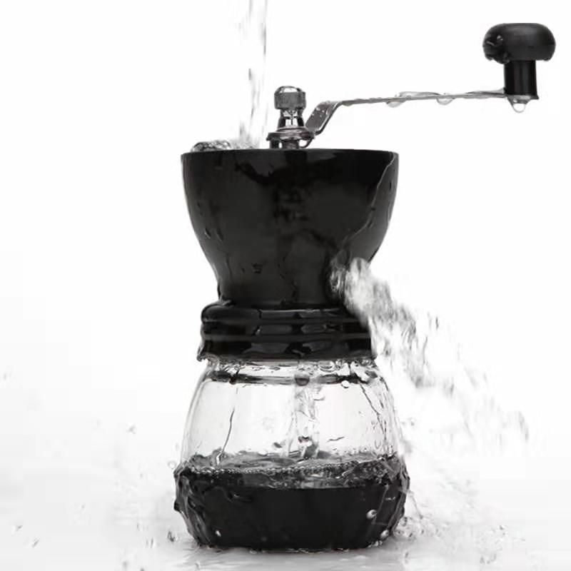 HARIO Manual Coffee Grinder with Storage Jar Brush ...